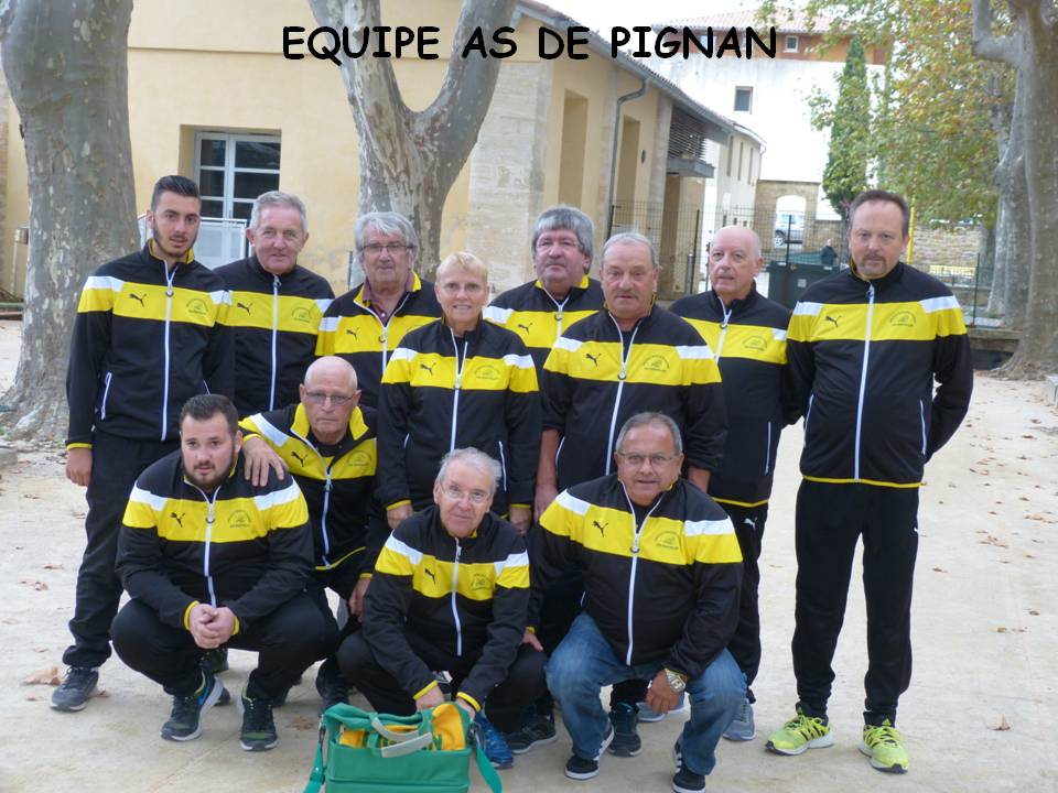 As equipe de pignan