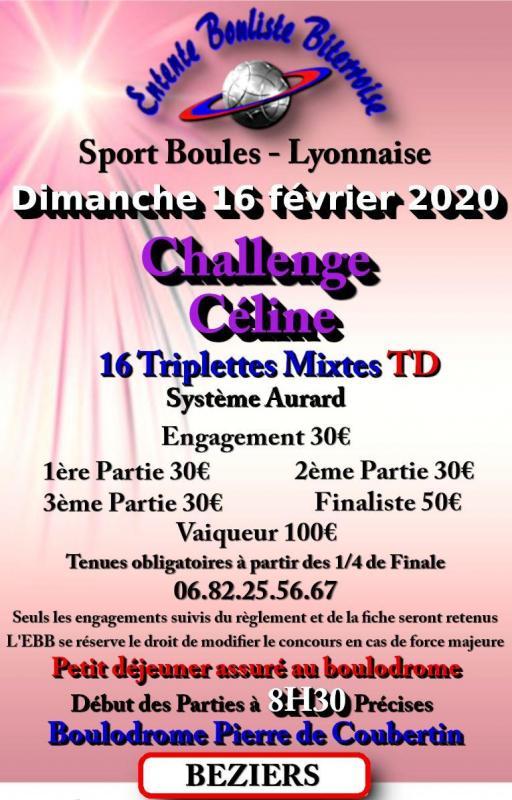 Challenge celine 16 02 2020