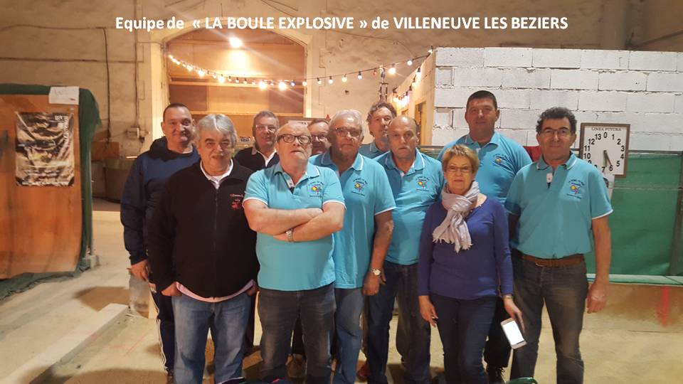 Equipe de la boule explosive villeneuve 01