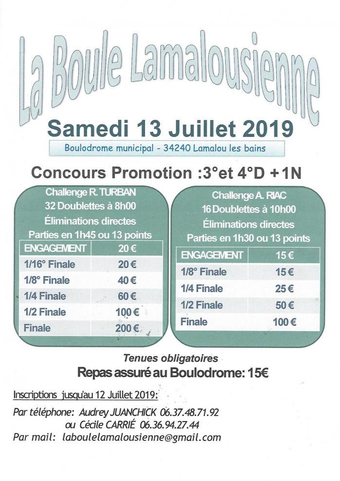 Lamalou affiche 13 juillet 2019